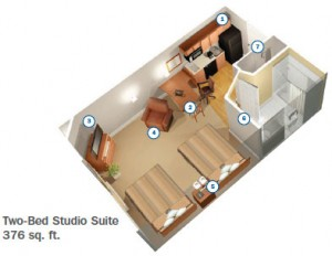Two-Bed Studio Suite